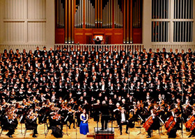 Wheaton College choirs and orchestra
